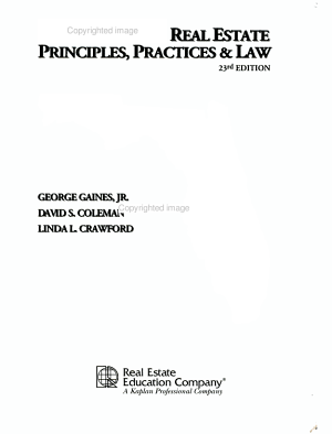 Florida Real Estate Principles  Practice and Law PDF
