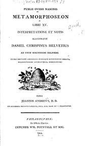 Publii Ovidii Nasonis Metamorphoseon libri XV.