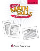 Essential Math Skills  Interactive Inventory for Pre K through Grade 3 PDF