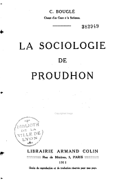 La sociologie de Proudhon