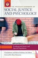 The Praeger Handbook of Social Justice and Psychology  3 volumes  PDF