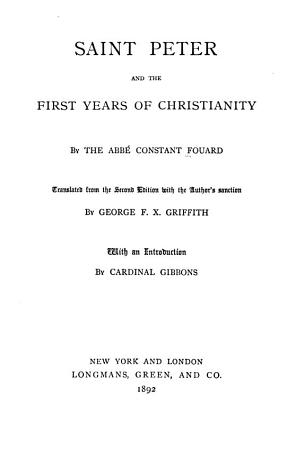 Saint Peter and the First Years of Christianity PDF