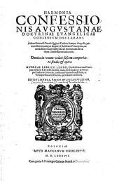 Harmonia Confessionis Augustanae Doctrinae Evangelicae Consensum Declarans