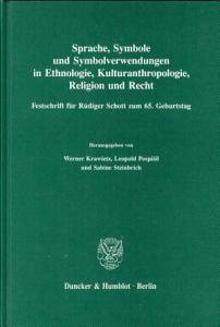 Sprache  Symbole und Symbolverwendung in Ethnologie  Kulturanthropologie  Religion und Recht PDF