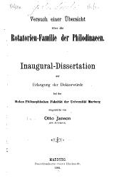 Versuch einer Übersicht über die Rotatorien-Familie der Philodinaeen