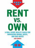 Rent Vs Own PDF
