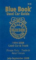 Kelley Blue Book Used Car Guide, July-September 2009