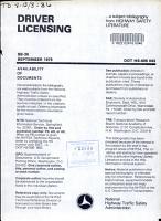 Driver Licensing PDF