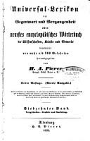 Universal Lexikon der Gegenwart und Vergangenheit oder neuestes encyclop  disches W  rterbuch der Wissenschaften  K  nste und Gewerbe PDF
