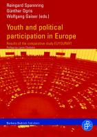 Youth and Political Participation in Europe PDF