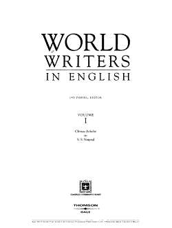 World Writers in English  Chinua Achebe to V S  Naipaul PDF