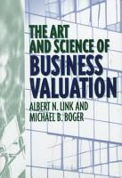 The Art and Science of Business Valuation PDF