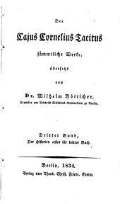 Des Cajus Cornelius Tacitus sämmtliche werke, übersetzt: Band 2