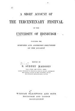 A Short Account of the Tercentenary Festival of the University of Edinburgh PDF