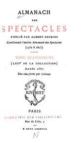 Almanach des spectacles: Volume14