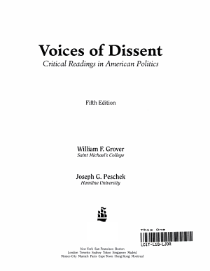 Voices of Dissent PDF