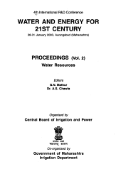 4th International R D Conference  Water and Energy for 21st Century  28 31 January 2003  Aurangabad  Maharashtra  Water resources PDF