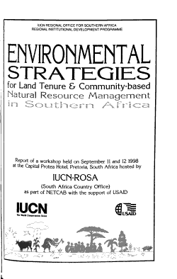 Environmental Strategies for Land Tenure   Community based Natural Resource Management in Southern Africa PDF