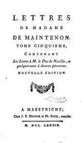 Memoires et lettres de Madame de Maintenon: Volumes11à12