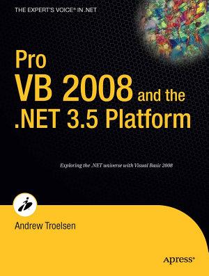 Pro VB 2008 and the  NET 3 5 Platform