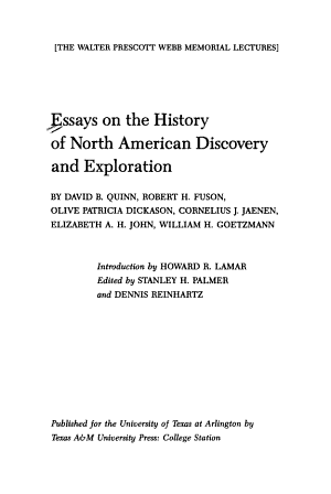 Essays on the History of North American Discovery and Exploration PDF