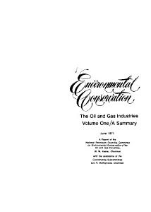 Environmental Conservation  the Oil and Gas Industries