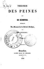 Théorie des peines et des récompenses, extraits des manuscrits de Jérémie Bentham: Volume1