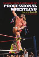 Biographical Dictionary of Professional Wrestling  2d ed  PDF