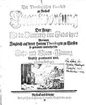 Der theologischen Facultät zu Rostock Beantwortung der Frage: Ob die Pietisterey eine Fabel seye?
