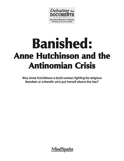 Banished  Anne Hutchinson and the Antinomian Crisis PDF