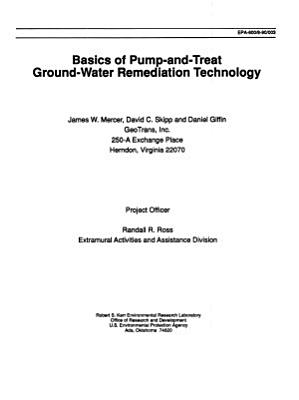 Basics of Pump-and-treat Ground-water Remediation Technology