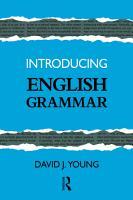 Introducing English Grammar PDF