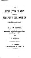 Josephus Gorionides PDF