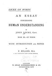 An Essay Concerning Human Understanding Book III. - of Words