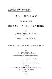 Locke on Words: An Essay Concerning Human Understanding