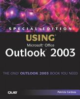 Using Microsoft Office Outlook 2003 PDF