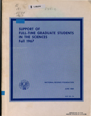 Support of Full time Graduate Students in the Sciences PDF
