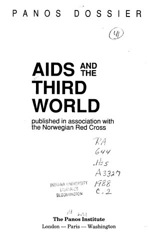 Aids and the Third World PDF