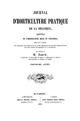 Journal D horticulture Pratique de la Belgique PDF