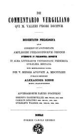 De commentario Vergiliano qui M. Valeri Probi dicitur