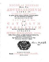 Nicolai Heinsii dan. fil. Adversariorum libri IV.