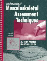Fundamentals of Musculoskeletal Assessment Techniques PDF