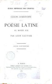 Cours d'histoire de la poésie latine au Moyen Age: Leçon d'ouverture