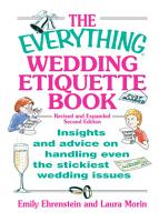 The Everything Wedding Etiquette Book PDF