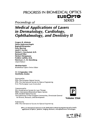 Proceedings of Medical Applications of Lasers in Dermatology  Cardiology  Ophthalmology  and Dentistry II PDF