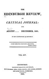 The Edinburgh Review: Volume 20; Volume 54