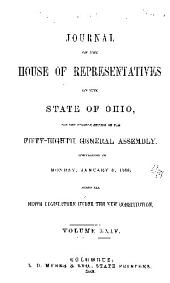 Journal of the House of Representatives of the ... General Assembly of the State of Ohio ...: Volume 58