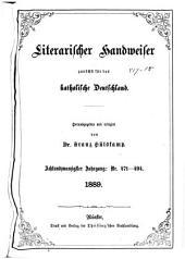 Literarischer Handweiser zunächst für alle katholische Deutschland: Band 28,Ausgaben 471-494