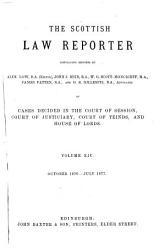 The Scottish Law Reporter Book PDF