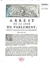 Arrest.. du 6 août 1762. [sur l'administration, par des économes-séquestres, des biens de la Société de Jésus dissoute]